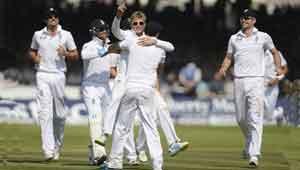 इंग्लैंड लॉर्ड्स मैच जीता