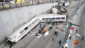 स्पेन ट्रेन हादसा