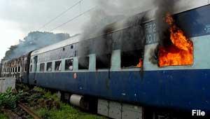 जलती ट्रेन