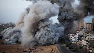 इज़राइल की गाज़ा में बमबारी