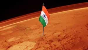 मंगल ग्रह-भारत का झंडा
