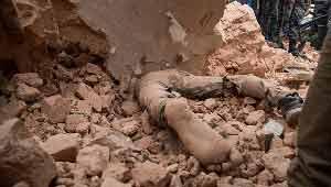 शव- भूकंप से मौत