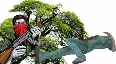 छत्तीसगढ़ झारखंड में माओवादी हमला